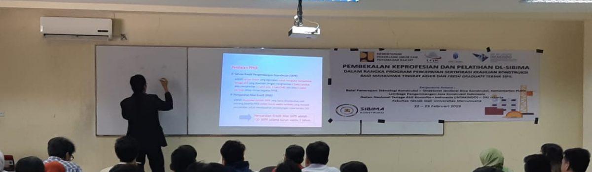 Pembekalan Keprofesian dan Pelatihan DL – SIBIMA Fakultas Teknik Universitas Mercu Buana